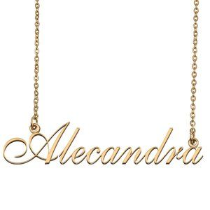 Custom Personalized Alecandra Name Necklace